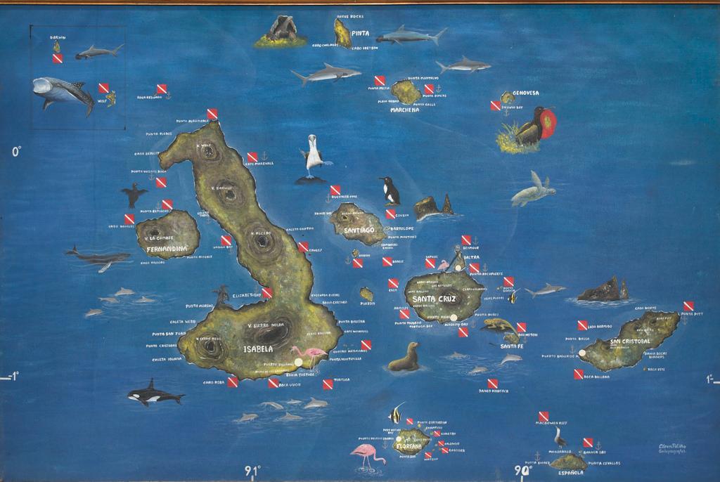 galapagos mappa