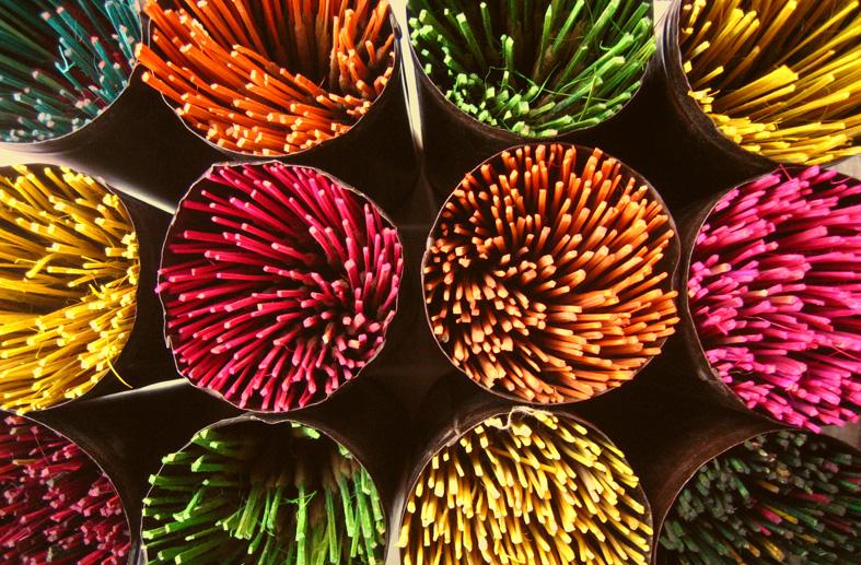 incenso colorato
