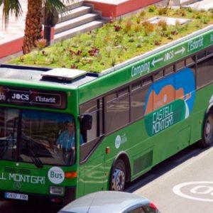 A Madrid gli autobus hanno un giardino sul tetto
