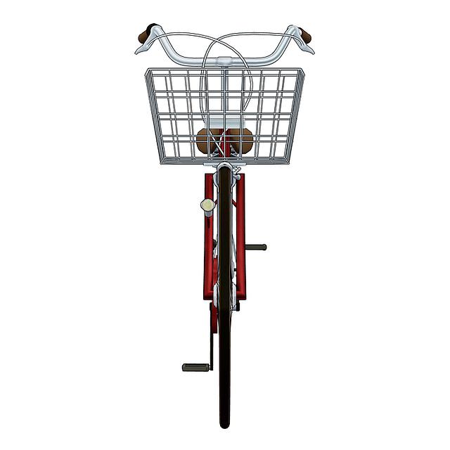 disegno bicicletta rossa