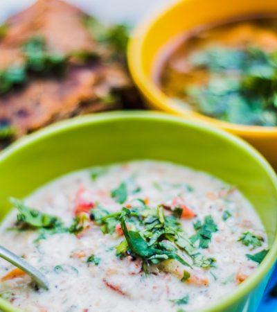 Curry vegetariano di ceci
