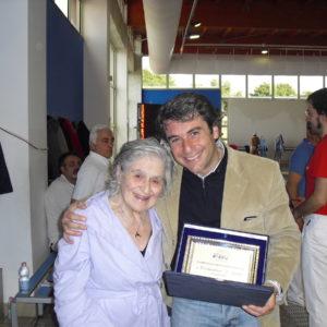 Costantina D'Amato, record in acqua a 95 anni