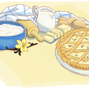 Crostata alla crema pasticcera e gocce di cioccolato
