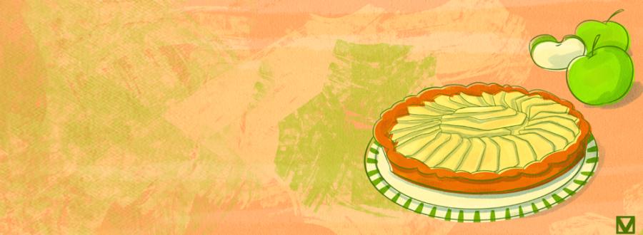torta di mele illustrazione di Virginia Morelli