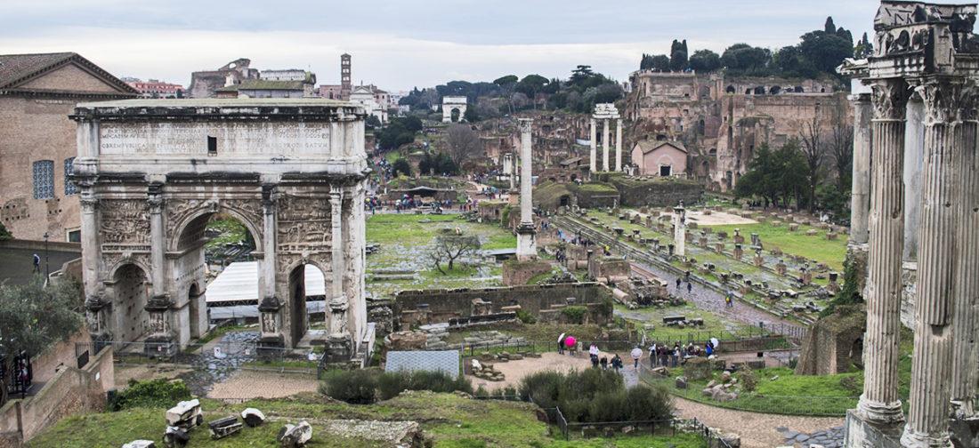 fori romani arco settimio severo