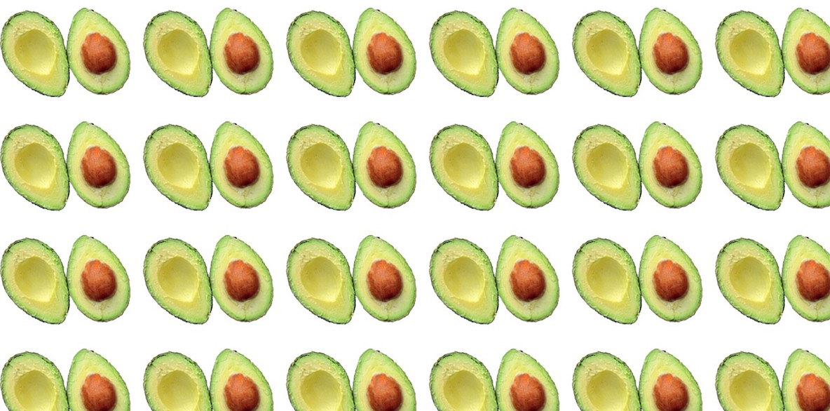 pattern con seme di avocado
