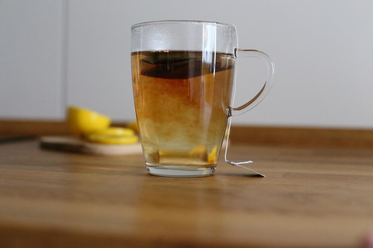 tazza di tè preparazione