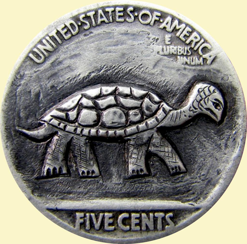 moneta con tartaruga