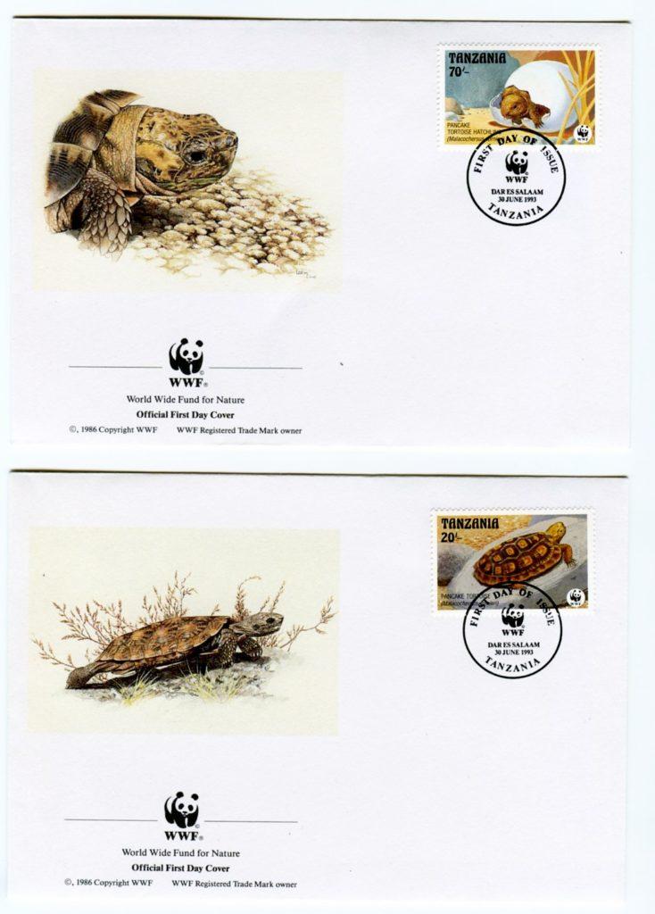francobolli di tartarughe