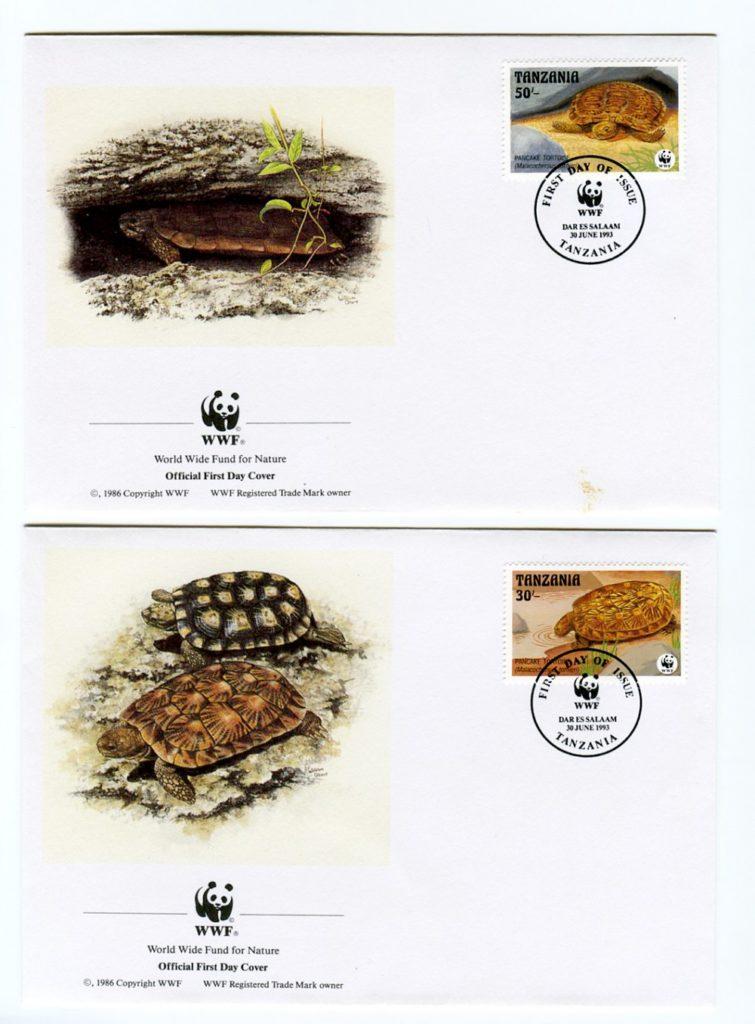 francobolli e tartarughe wwf