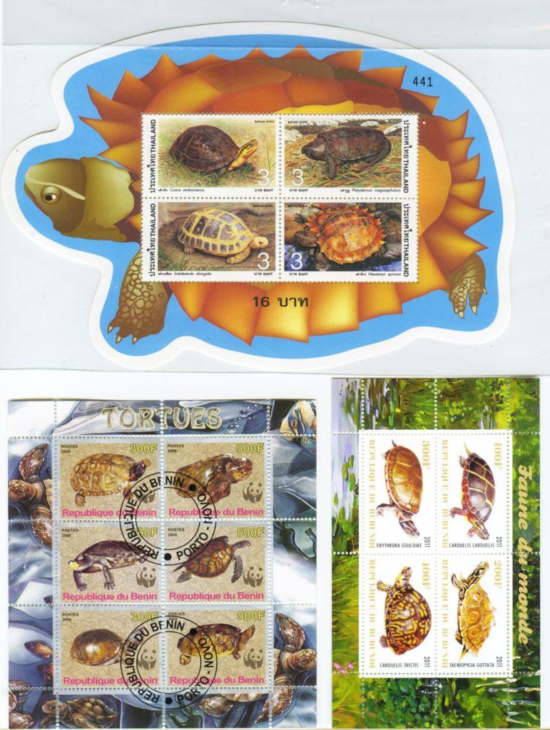 francobolli e tartarughe tailandesi