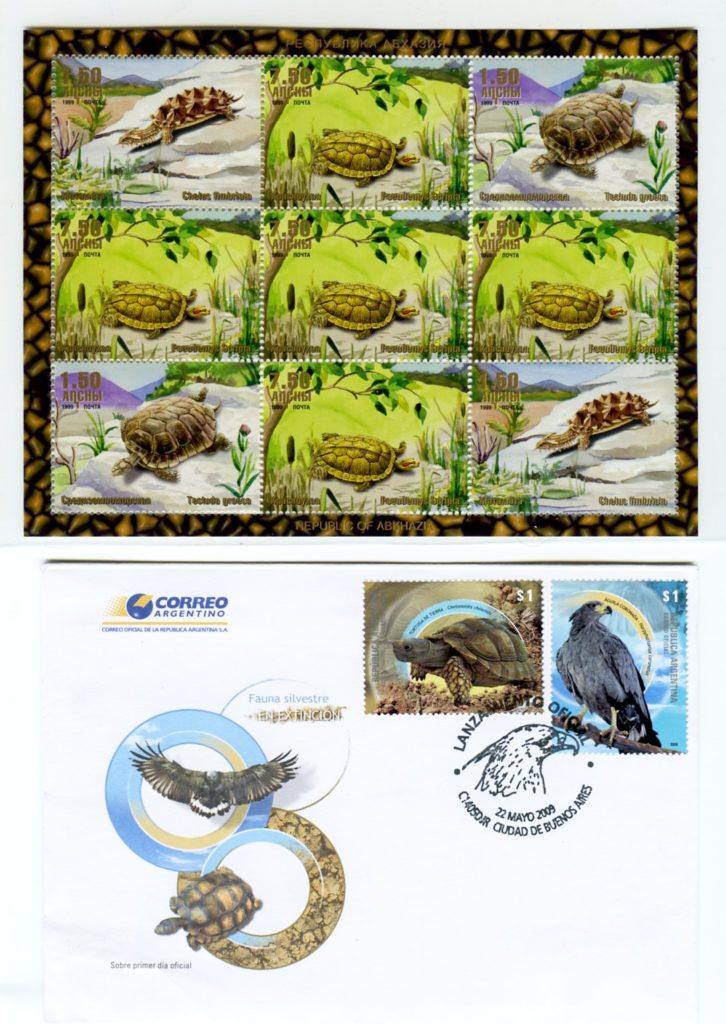 tartarughe filatelica argentina