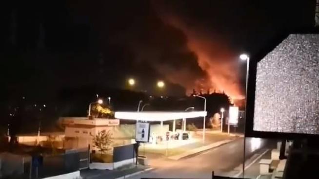 Incendio al collatino Roma