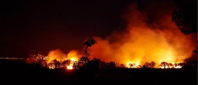 discarica abusiva incendio collatina